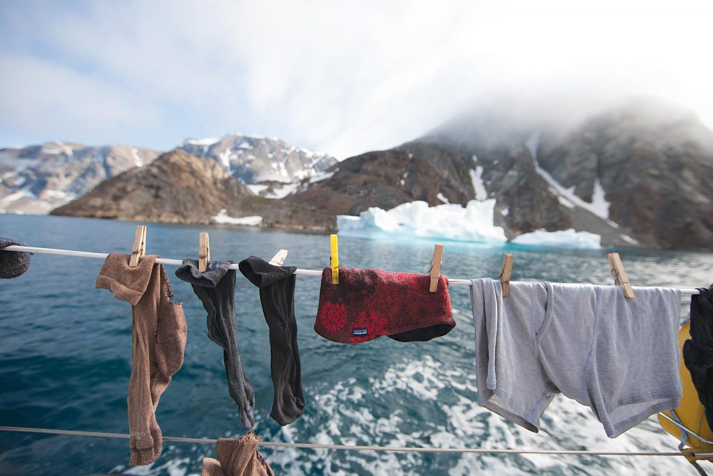 Washed overboard. Western Greenland.