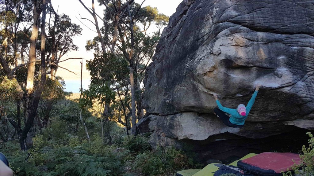 Evac (V6), the Bleachers, Grampians.