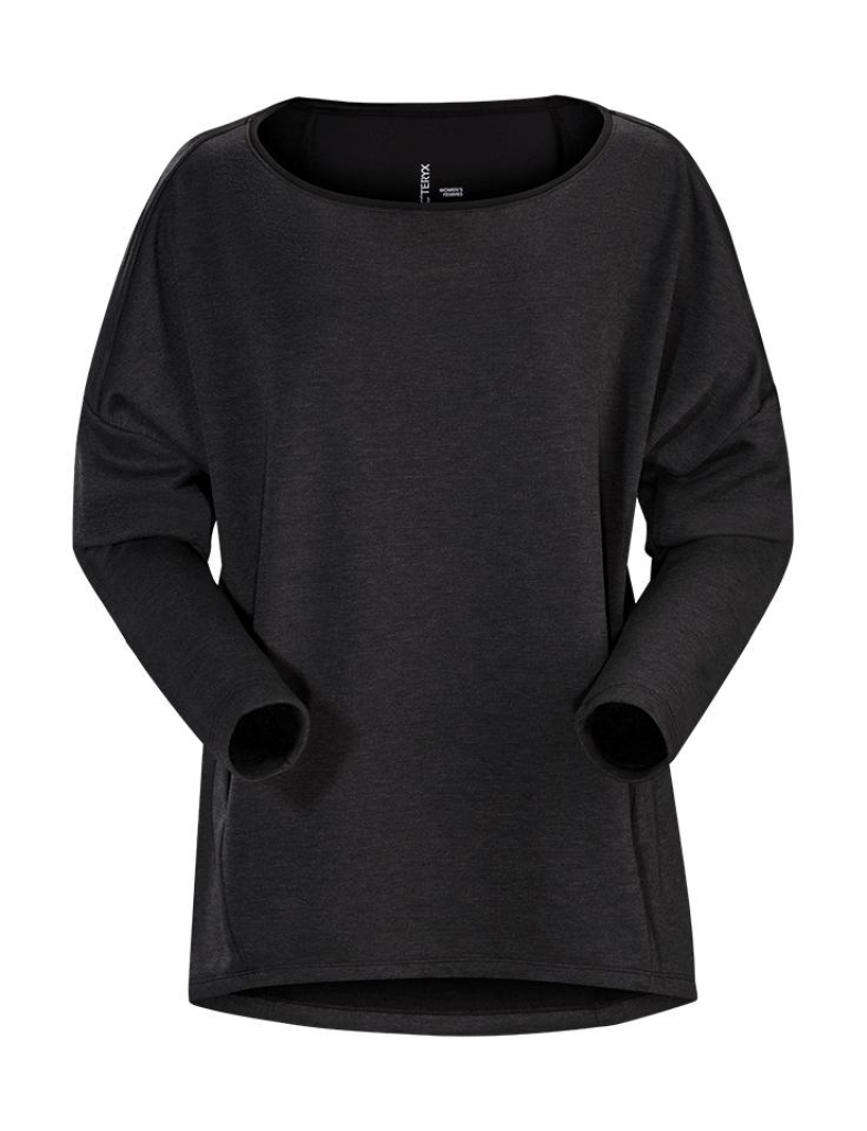 Arcteryx Nyara Boatneck Pullover (W) -fleece-takki Black Heather