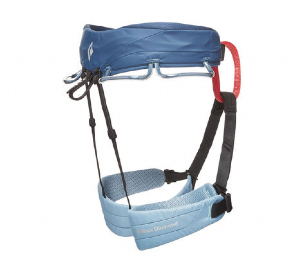 Black Diamond Momentum Harness (W) -Kiipeilyvaljaat Stone Blue