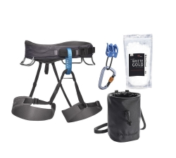 Black Diamond Momentum Harness Package -Kiipeilyvaljaat Slate