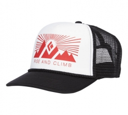 Black Diamond Flat Bill Trucker Hat -trucker-lippis White-Fire Red