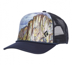 Black Diamond Flat Bill Trucker Hat -trucker-lippis El Cap
