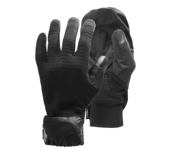 Black Diamond Wind Hood Gridtech Gloves -käsineet Black