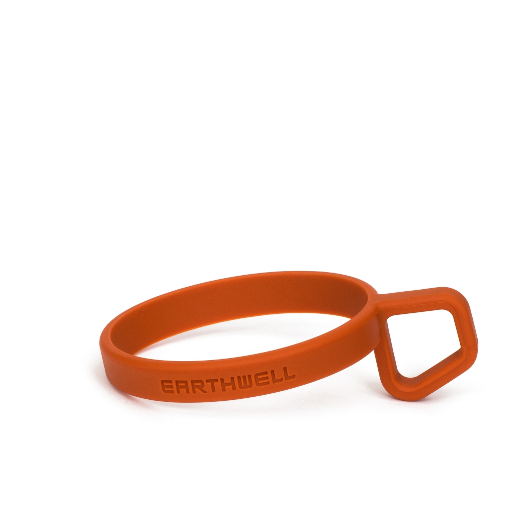 Earthwell LoopD Silicone Ring -mukin pidike Mars Orange