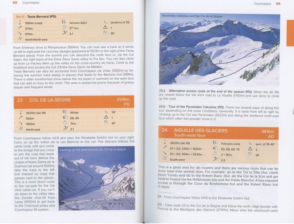 Editions Nevicata Mont Blanc and the Aiguilles Rouges -Opaskirja ISBN 9782875231086 A Ski Guide