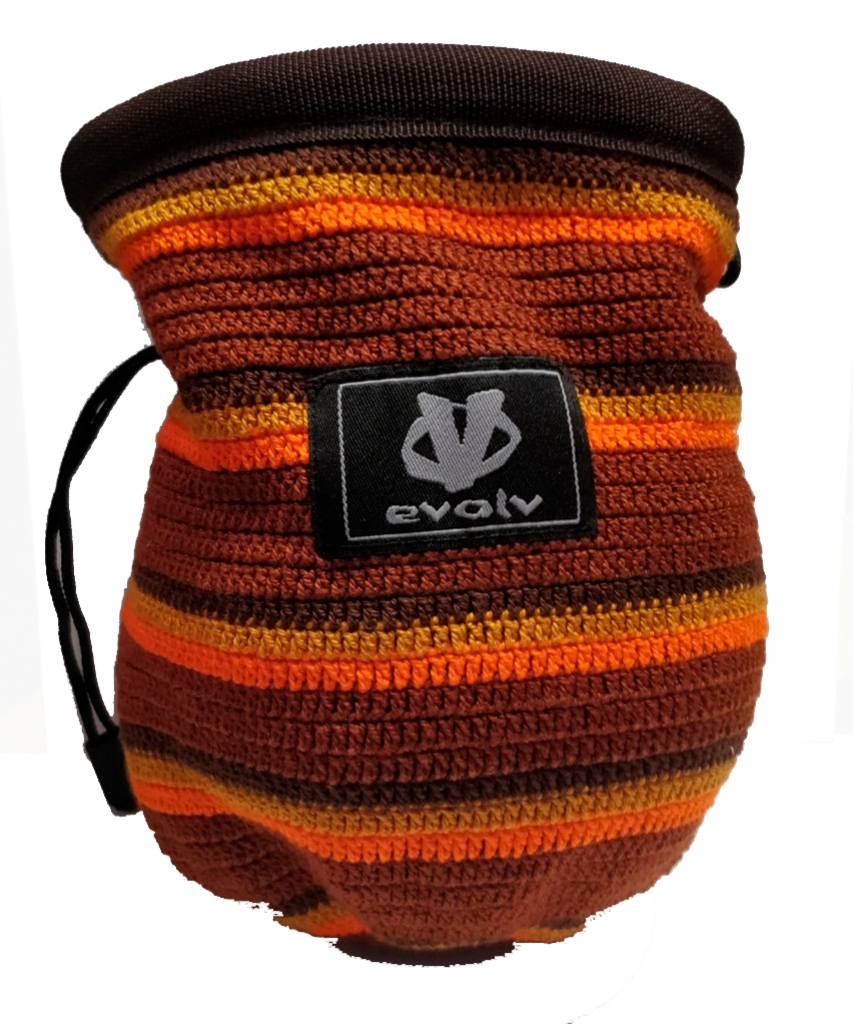 Evolv Sports Chalk Bag Knit -Mankkapussi Brown Brown Orange