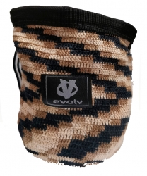 Evolv Sports Chalk Bag Knit -Mankkapussi Beige Black Brown