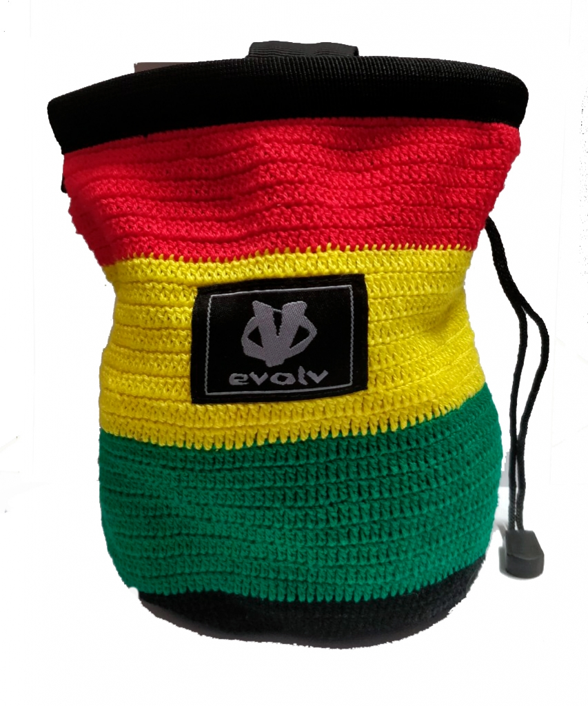 Evolv Sports Chalk Bag Knit -Mankkapussi Red Yellow Green