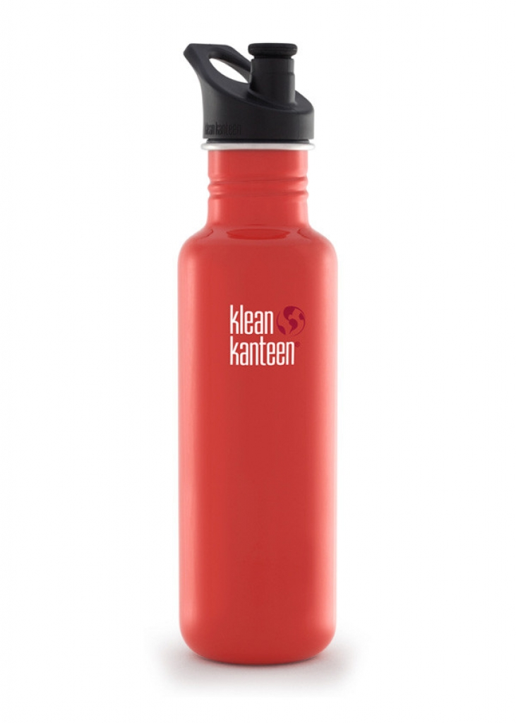 Klean Kanteen Classic 800 ml w/sport cap -Juomapullo flame orange