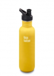 Klean Kanteen Classic 800 ml w/sport cap -Juomapullo Lemon Curry