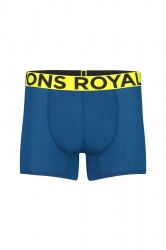 Mons Royale Hold ´em Shorty Boxer -merinovilla alushousut Oily Blue