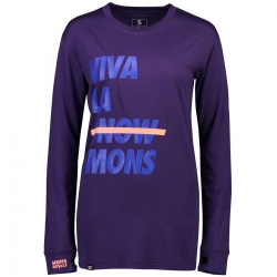 Mons Royale Yotei BF Tech LS (W) -Merinopaita Grape
