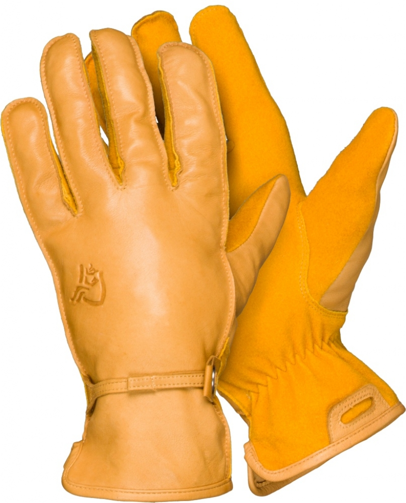 Norrona Svalbard Leather Gloves -nahkahanskat Kangaroo