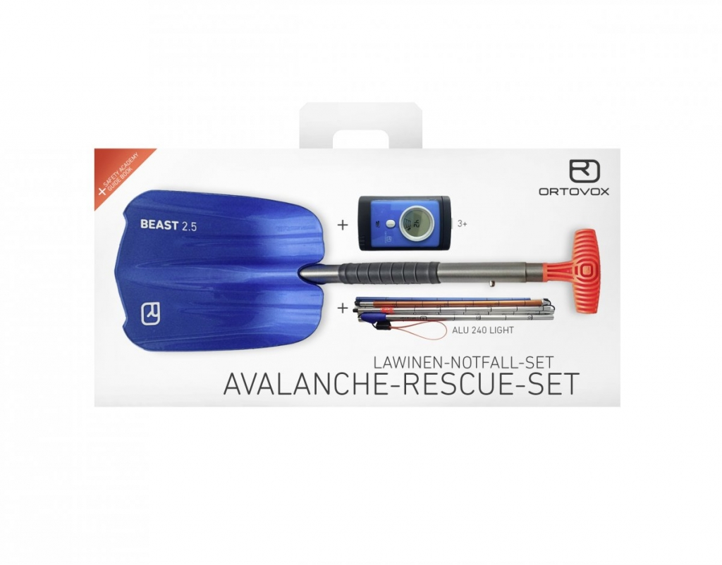 Ortovox Avalanche Rescue Kit 3+ -Lumiturvallisuussetti Avalanche Rescue Kit 3+