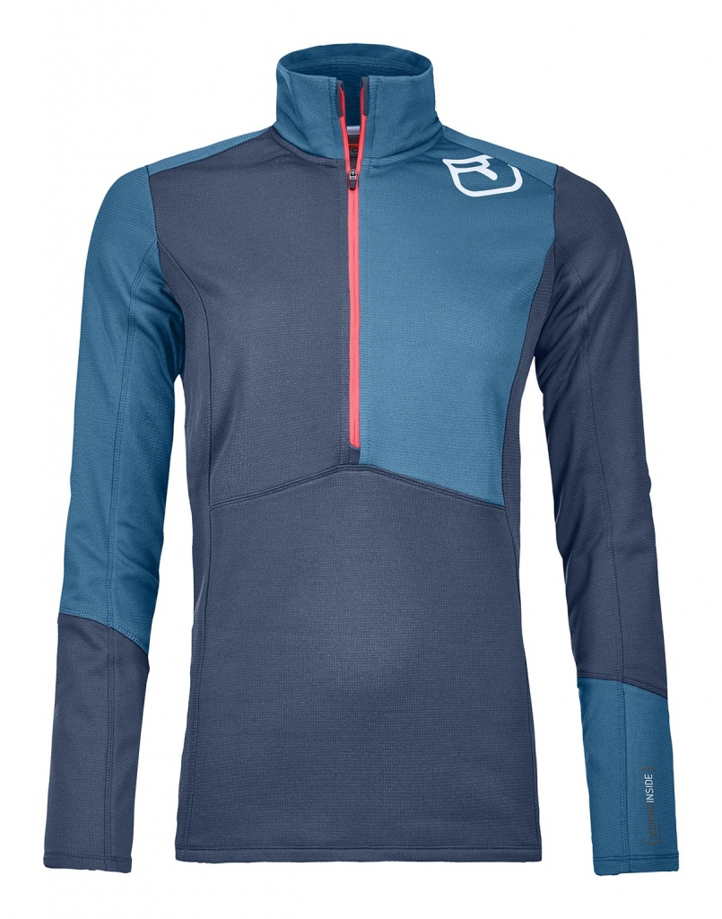 Ortovox Fleece Light Zip Neck (W) -fleecepaita Night Blue