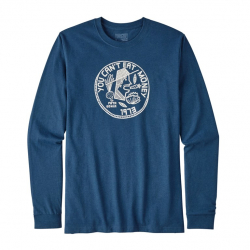 Patagonia Can´t Eat Money Responsibili LS (M) -Pitkähihainen T-paita Glass Blue