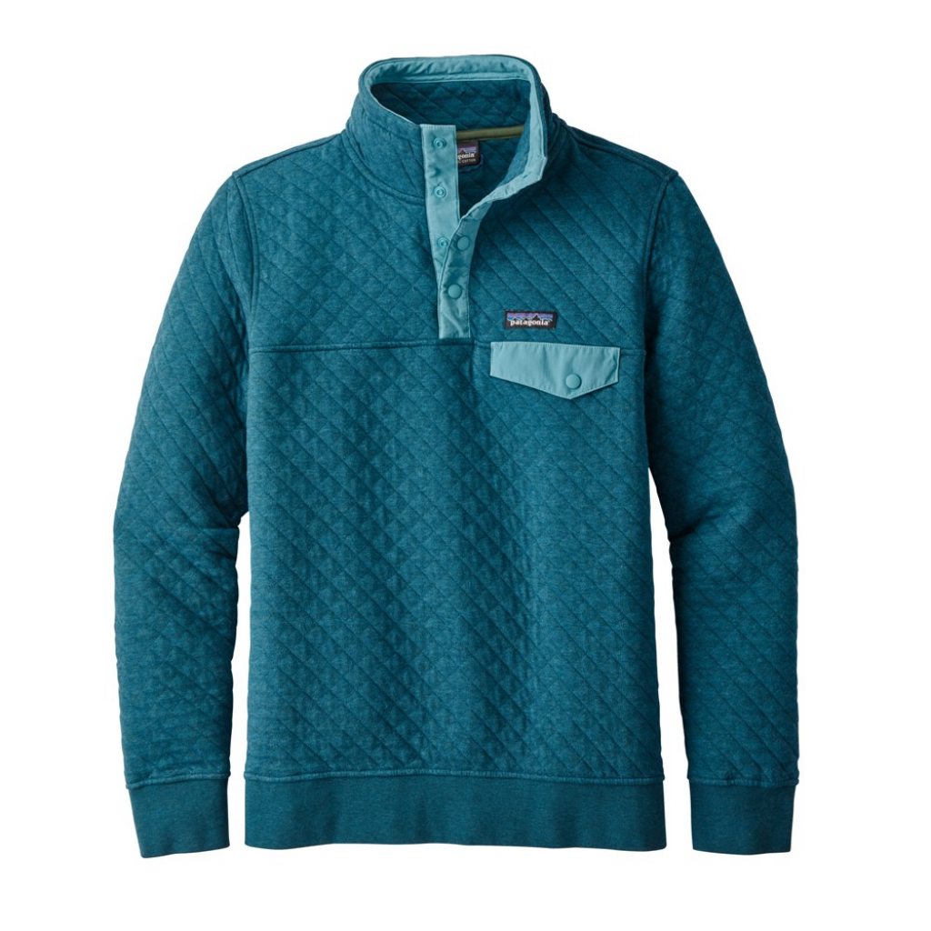 Patagonia Cotton Quilt Snap-T P/O (W)  Elwha Blue