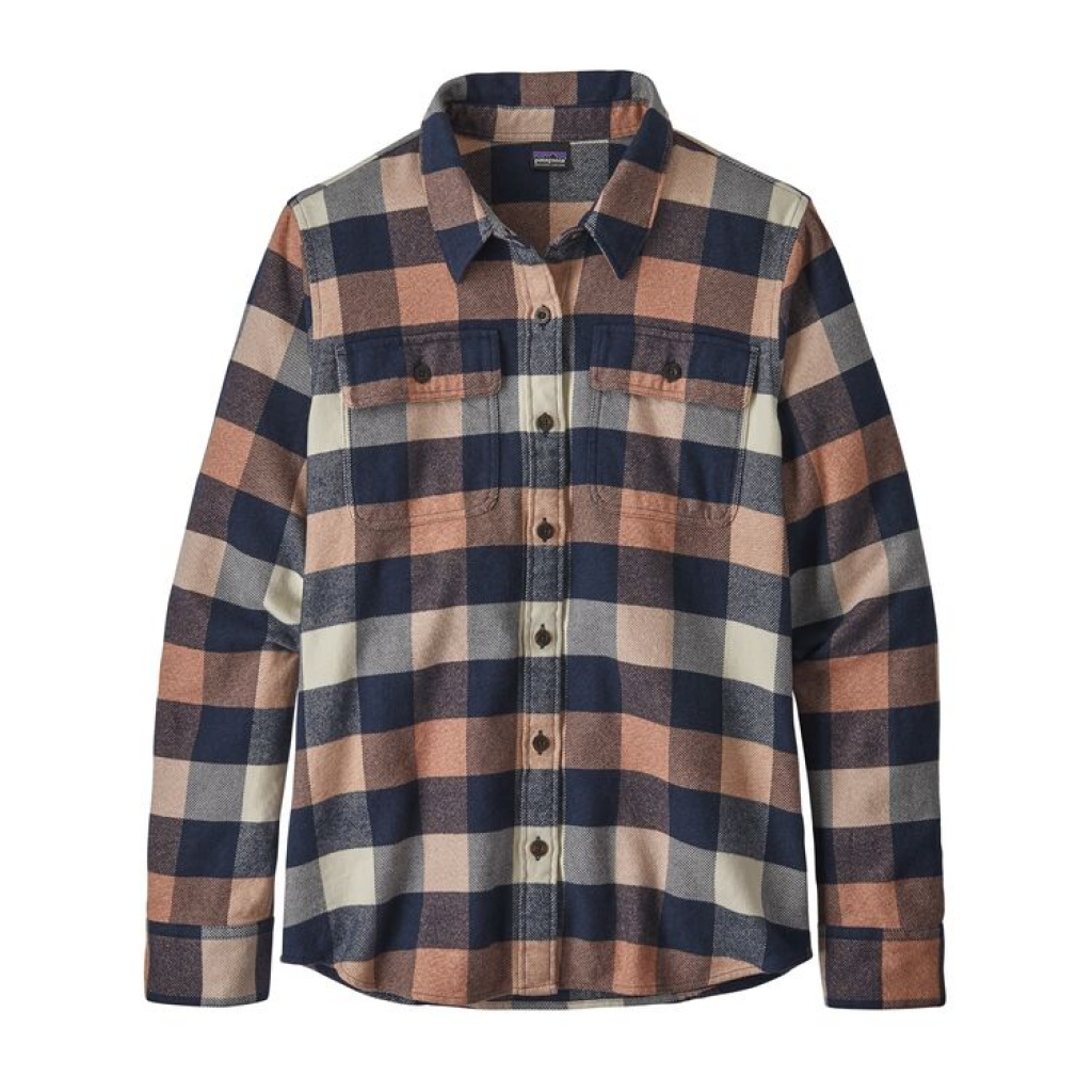 Patagonia L/S Fjord Flannel Shirt (W) -flanellipaita Upriver: Century Pink