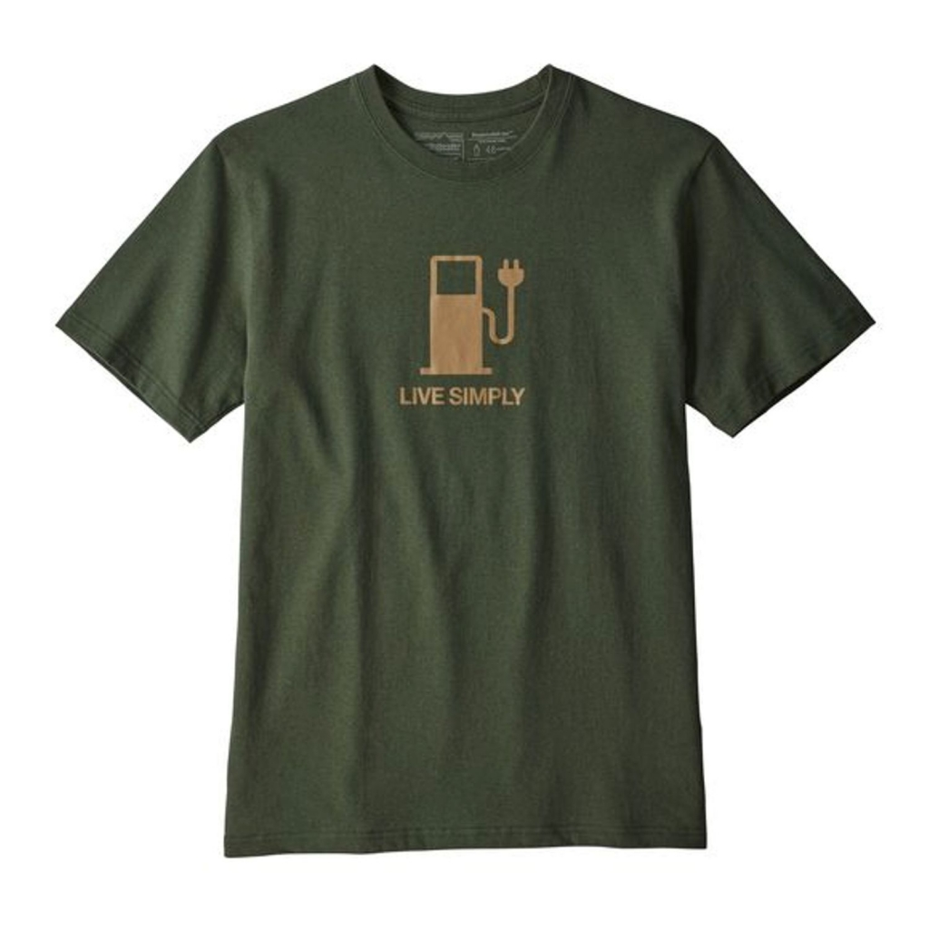 Patagonia Live Simply Power Responsibili-Tee -T-paita Nomad Green
