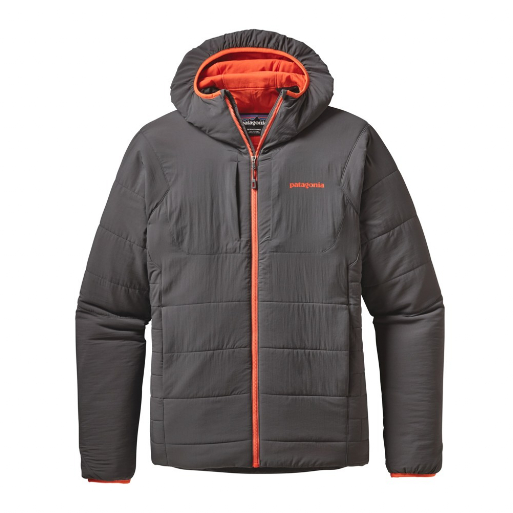 Patagonia Nano-Air Hoody (M) -Välitakki Forge Grey w/Cusco Orange