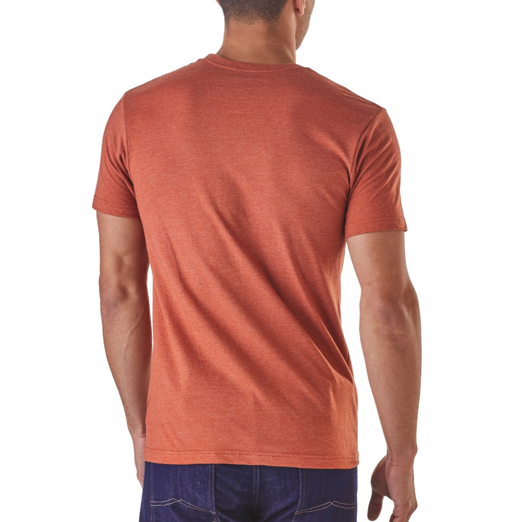 Patagonia Pickup Lines Cotton/Poly T-Shirt (M) -T-paita Roots Red