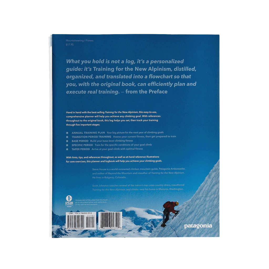Patagonia The New Alpinism Training Log -ISBN 9781938340390 The New Alpinism Training Log
