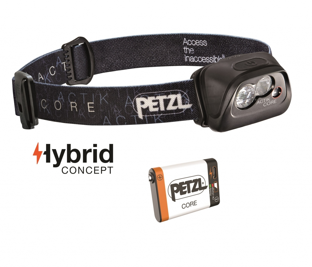 Petzl Actik Core -LED-otsavalo Black