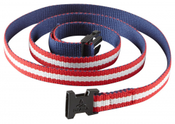 prAna Chalkbag Cotton Belt  Red White Blue